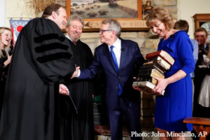 Mike DeWine takes Ohio governor's oath on 9 Bibles