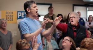 Anti-gay protesters shout about Sodom and Gomorrah at Pete Buttigieg rally in Iowa