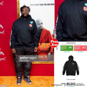 QuestLove spotted wearing PreachersNSneaker's hoodie at movie premier 😂