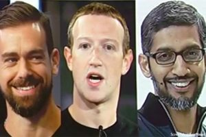 Facebook, Twitter CEO's Struggle To Name a Single Liberal Who Has Been Censored on Their Platforms