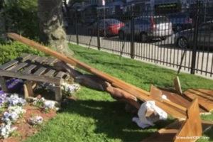 Hundreds Attend Prayer Vigil After Jesus Statue Toppled, American Flag Burned at Brooklyn Church