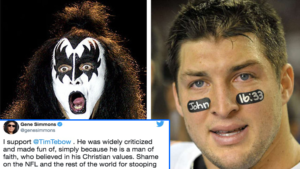 """Gene Simmons Defends Tim Tebow, Slams His Critics in Viral Tweet: """"Shame on the NFL & Rest of the World"""""""